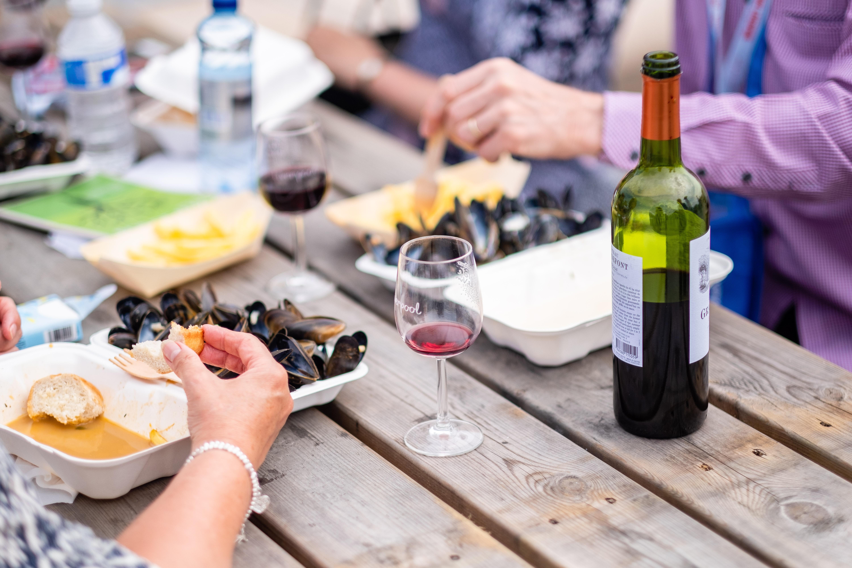 Food & Wine on table