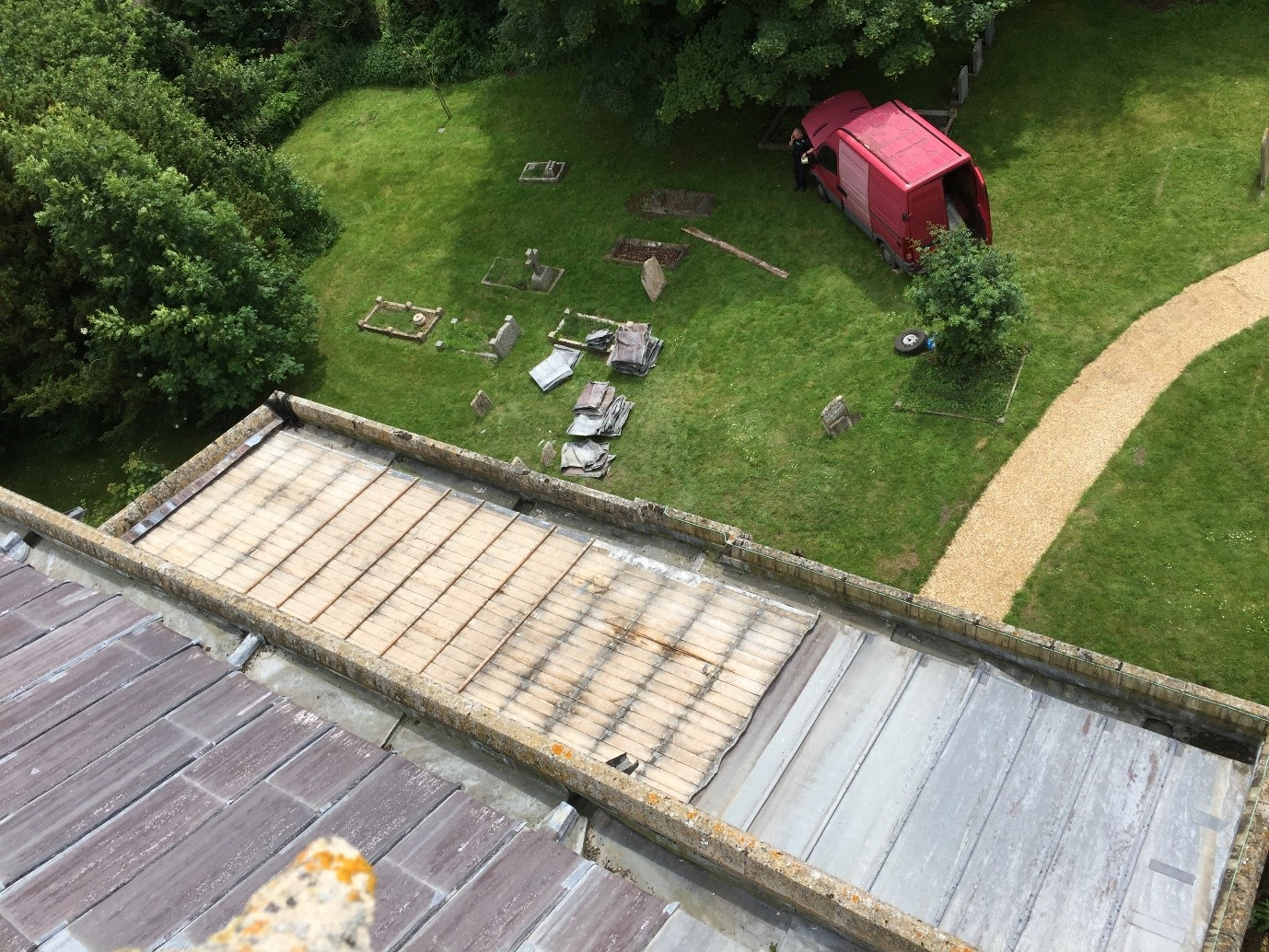 Church roof lead theft