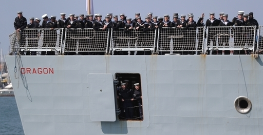 HMS Dragon homecoming