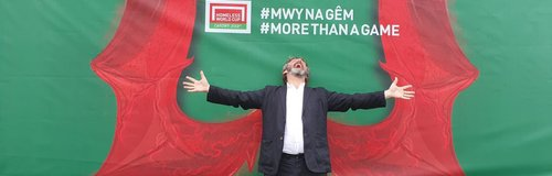 Michael Sheen at the Homeless World Cup