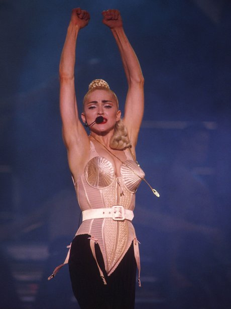 Madonna in a cone bra and leotard