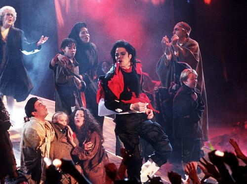 Michael Jackson performs at the Brits
