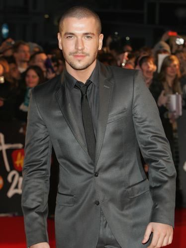Shayne Ward on the red carpet