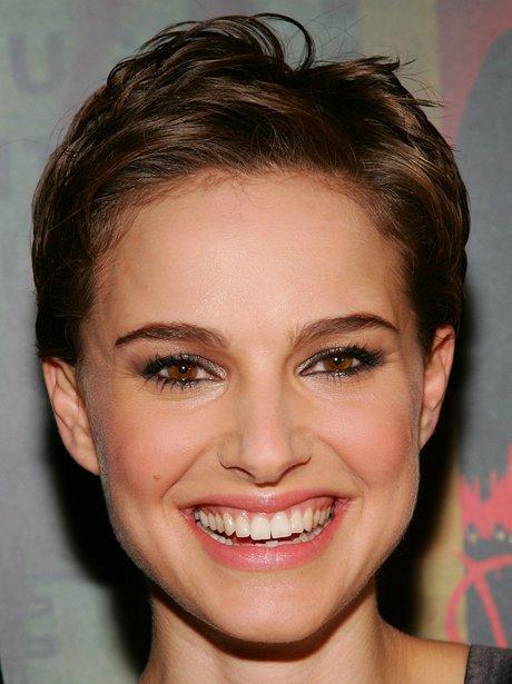 Natalie Portman with a pixie crop