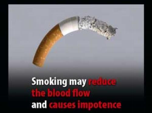 Smoking can cause impotence