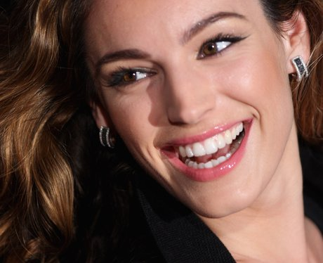 Close up of Kelly Brook smiling