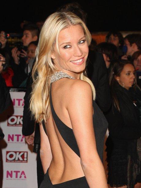 Denise Van Outen in backless black dress