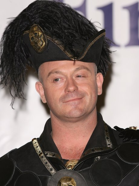 Ross Kemp dressed as Captain Hook for a Pantomime