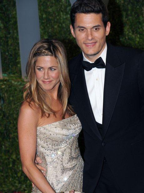 Jennifer Aniston and Jon Mayer at The Oscars 2009