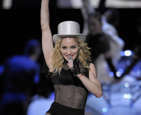 Madonna on the Sticky and Sweet tour