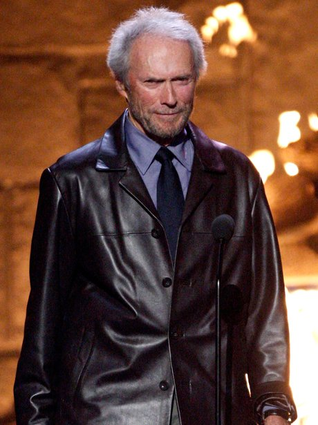 Clint Eastwood in a leather jacket