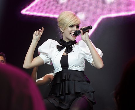 Pixie Lott on stage at the Jingle Bell Ball