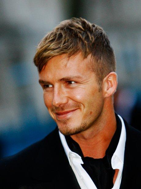 David Beckham clean shaven
