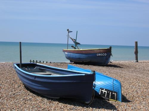 Boats on East Preston beach