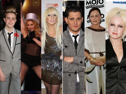 Jedward, Madonna, Lady Gaga, Michael Buble, Belind