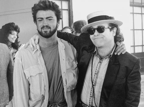 Elton John and George Michael