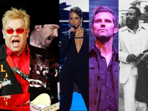 Elton John, The Edge, Alicia Keys, Jason Orange, Marvin Gaye