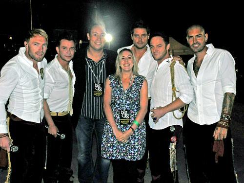Ian & Laura with Boyzone