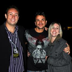 Ian & Laura with Peter Andre