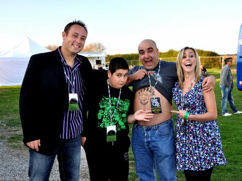 Ian & Laura with Stavros Flatley