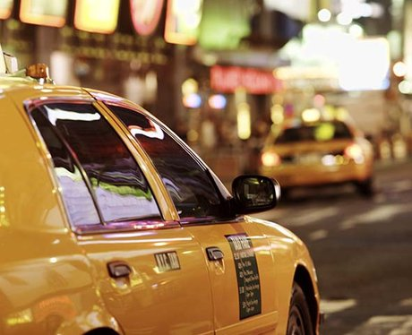A yellow taxi in New York