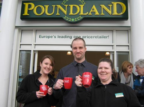 Amanda Green with her work mates from Poundland in