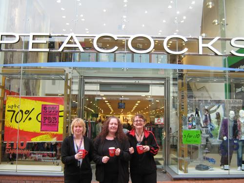 Cheryl, Anne and Jane from Peacocks in Wrexham.