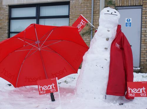 heart snowman