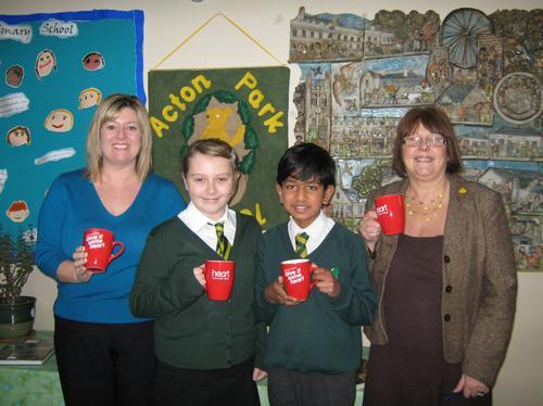 Jan, Lauren, Dhruv and Mrs Cuff from Acton Park Pr