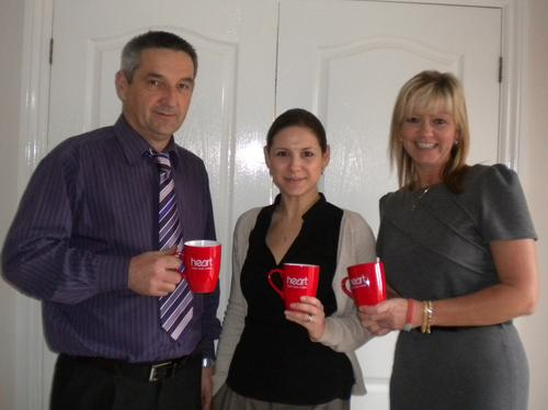 Michele Oakes, Dave Cable and Jane Stearman from M