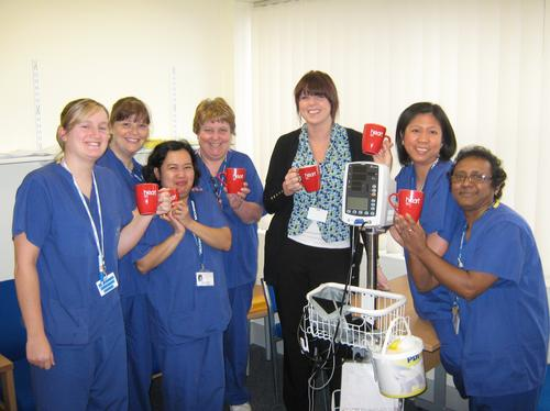 Paula Finnigan and the team from Endoscopy