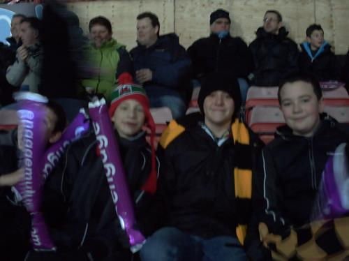 The Heart Angels at the first Crusaders match in t