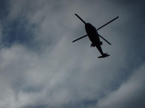 Helicopter in skies above Suffolk