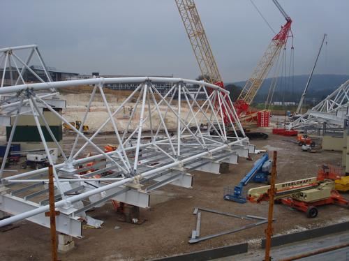 Falmer Stadium construction work