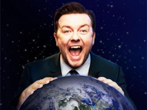 Ricky Gervais publicity image for Science tour