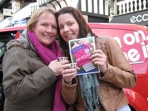 The Heart Angels in Chester promoting this years R