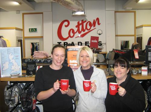 The staff from Cotton Trader, Cheshire Oaks show o