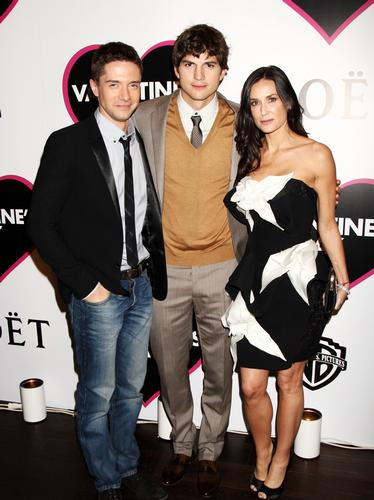 Topher Grace, Ashton Kutcher and Demi Moore