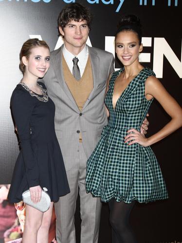Emma Roberts, Ashton Kutcher and Jessica Alba