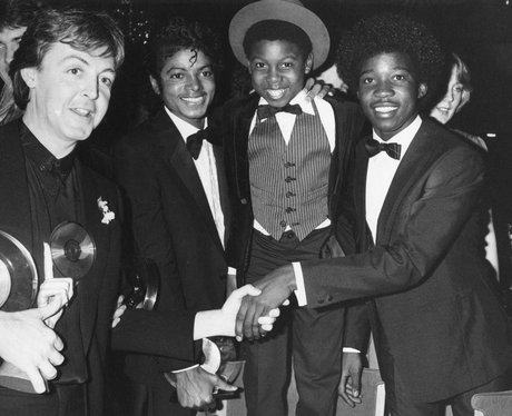Paul McCartney And Michael Jackson In 1983