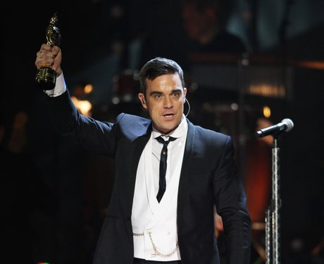 Robbie Williams at the 2010 BRIT awards