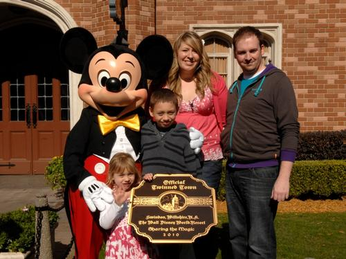 Disneyworld twinning ceremony with Swindon
