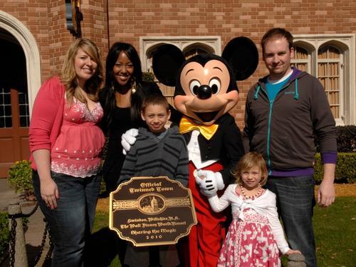 Disneyworld twinning ceremony with Swindon