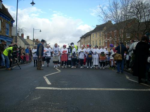 Runners getting ready