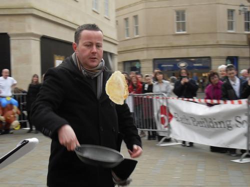 bath pancake race