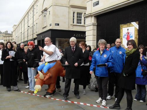 bath pancake race