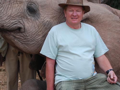Simon meets the elephants