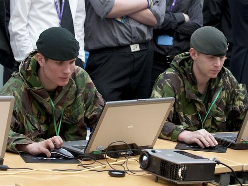 Soldiers using Simulator