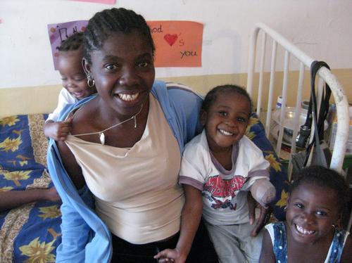 Haiti mum and kids