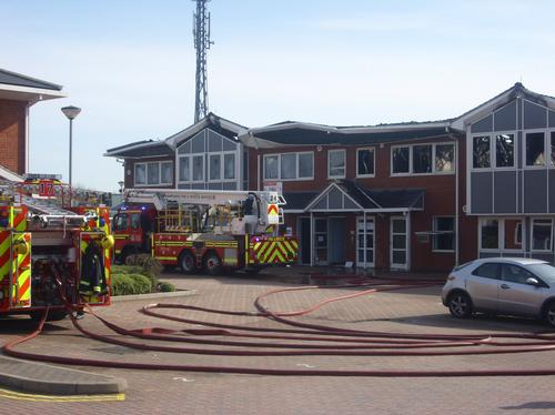 Fareham Industrial Site Fire
